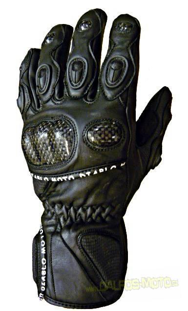 Diablo Moto kožené rukavice black