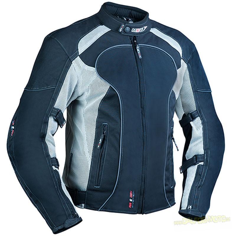 MBW AIR´n´DRY grey - textilní moto bunda