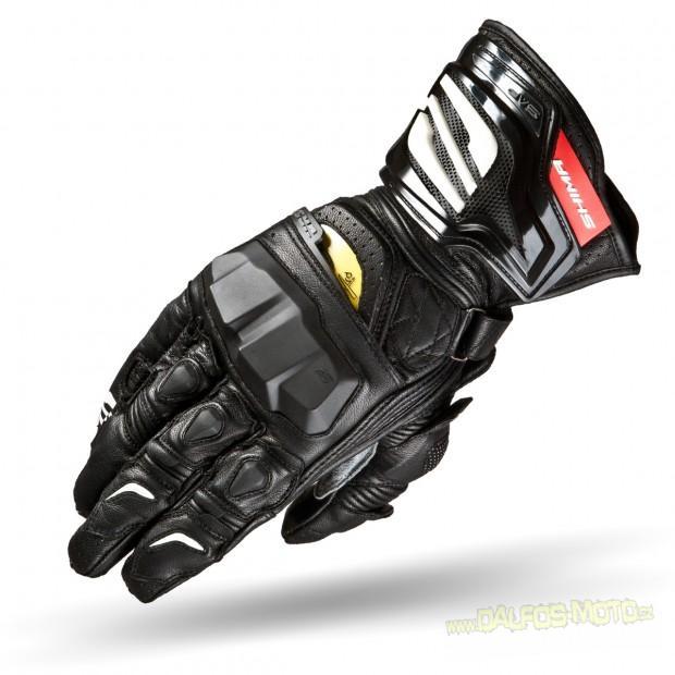 Moto rukavice SHIMA VRS z klokaní kůže, černé pánské