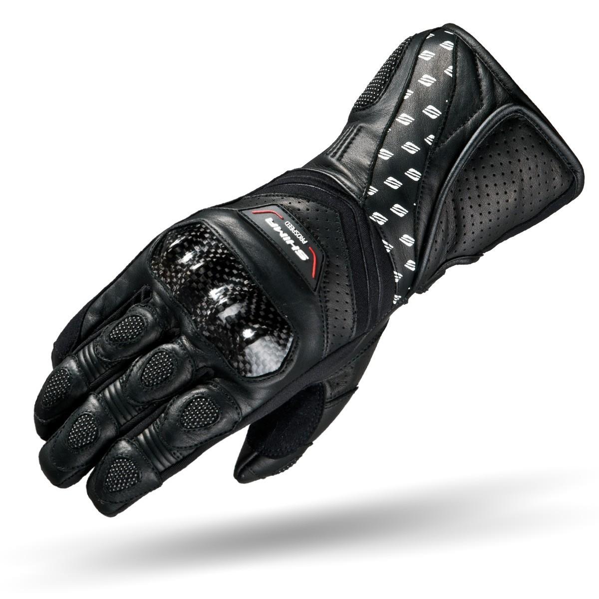 Rukavice na motorku SHIMA PROSPEED pánské kožené černé