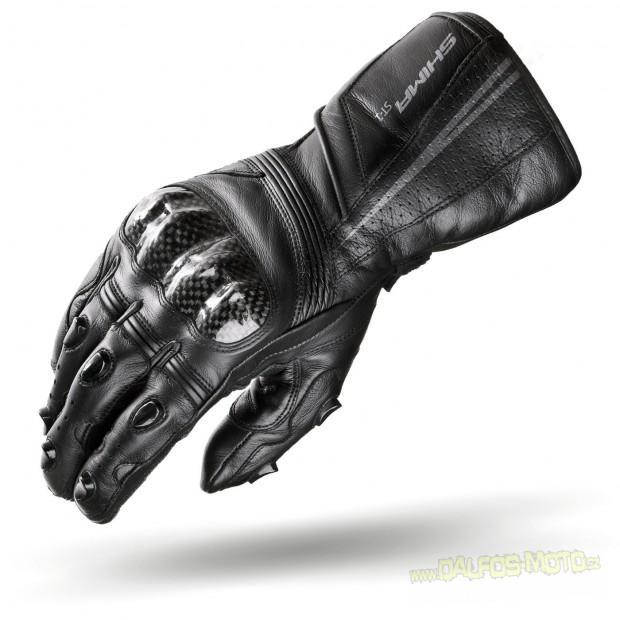 Motorkářské rukavice SHIMA ST-1, pánské, kožené, černé