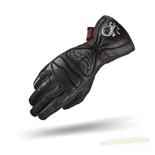 Dámské kožené moto rukavice SHIMA CALDERA MFI +, černé