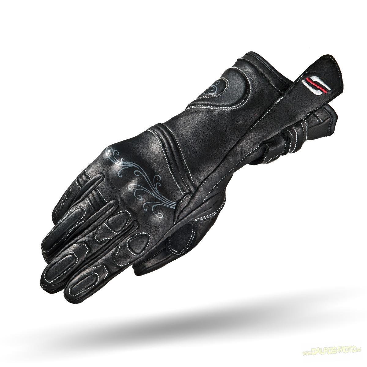 Dámské moto rukavice SHIMA MODENA, kožené, černé