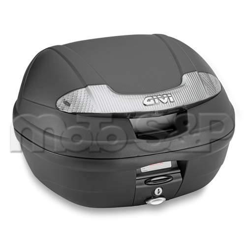 E 340NT TECH Vision kufr GIVI černý s čirými odrazkami Monolock s vlastní plot