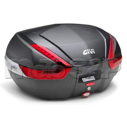 V 47NN kufr GIVI černý (Monokey) s červenými odrazkami a černým víkem, objem 47