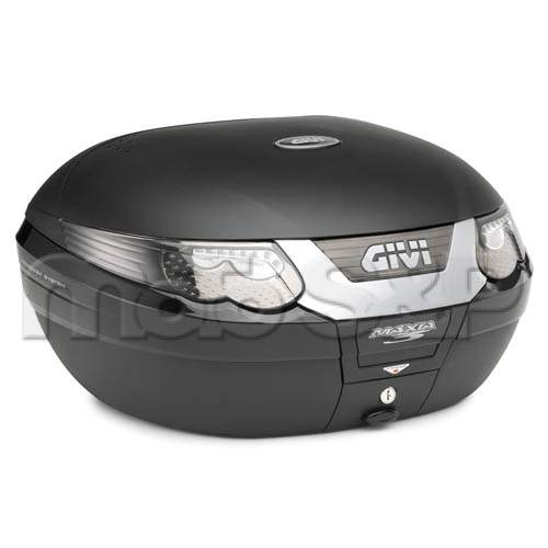 E 55NT TECH kufr GIVI Maxia 3, černý nelakovaný Monokey), průhledné odrazky, o