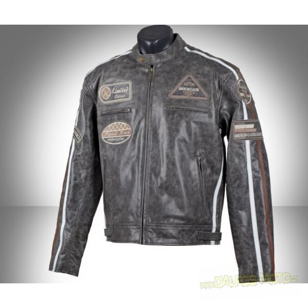 Kožená retro bunda na motorku 472f5adc63