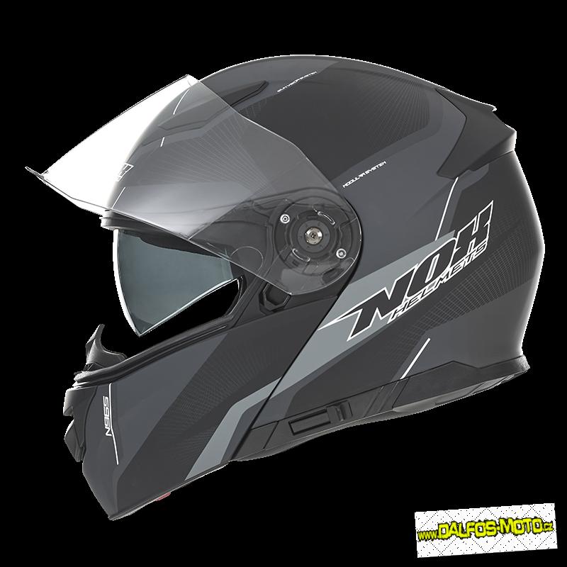 e269b3926b NOX vyklápěcí helma N965 Score Noir