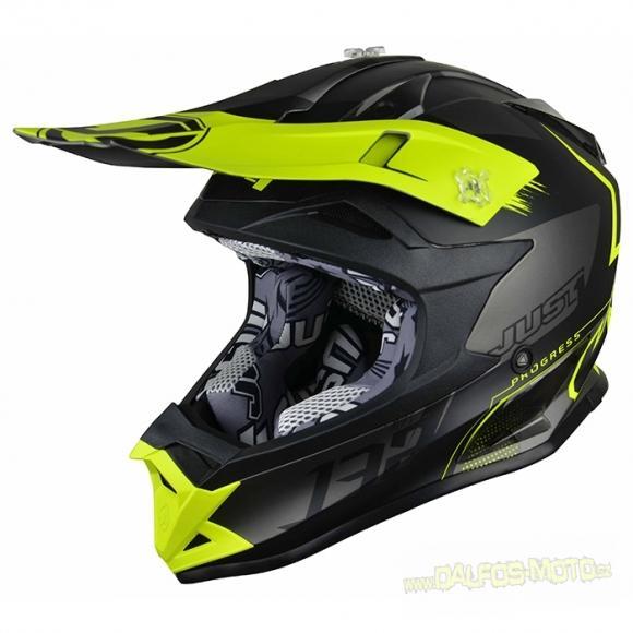 MX helma JUST1 J32 PRO KICK žlutá černá titanová bb6b893b181