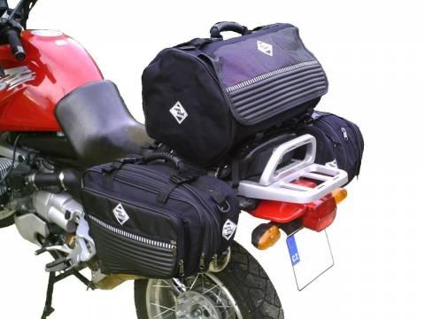 Textilní brašny na moto, motobrašny, boční brašny