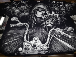 Tričko Eagle Rock God Bless Rides Safe