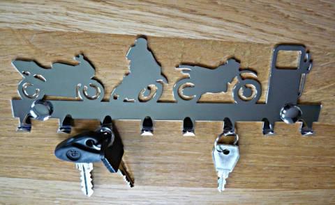 Věšák na klíče - chrom